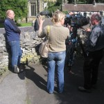 Pete Hawkins and the BBC crew, Taste Tideswell, Village SOS