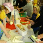 Veg prep at Bishop Pursglove School